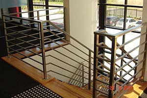 stainless steel hand rail at factory unit
