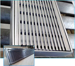 Stainless Steel Floor Grate & Trough