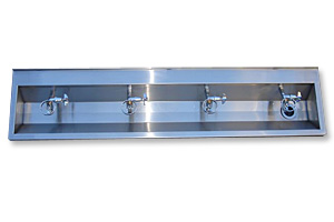 pre-plumbed pwd wash trough
