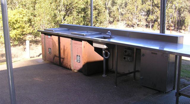 stainless steel barbeque bench top