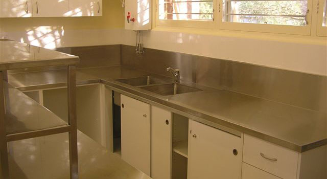 stainless steel kitchen bench tops